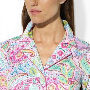 NWT Gorgeous Ralph Lauren paisley Nightshirt